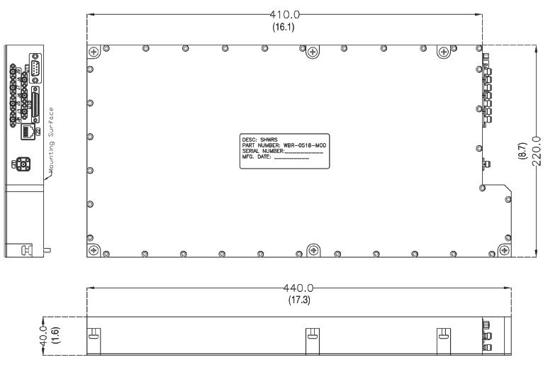 Dimensions and Outline of Receiver Wide Band